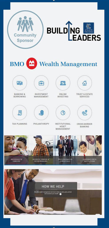 BMO Wealth Managment is a corporate sponsor of Kansas City Athlete Training visit https://www.bmo.com/main/wealth-management